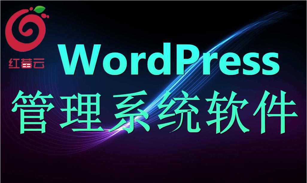 广州红莓云.管理系统软件(WordPress)