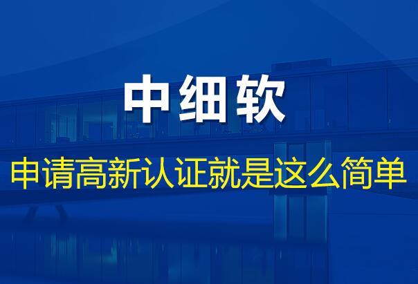 中细软·高新企业认证培育