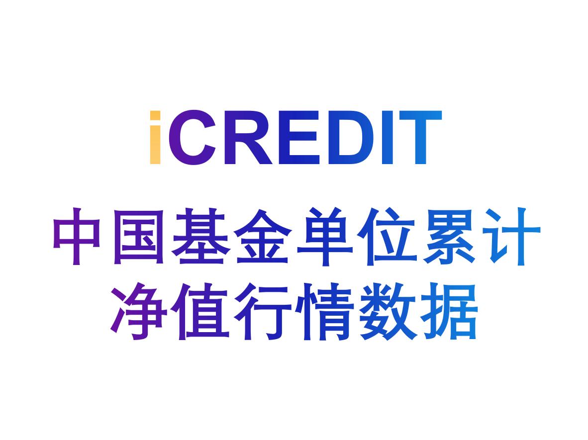 金融知识图谱-中国基金单位累计净值行情数据-艾科瑞特(iCREDIT)