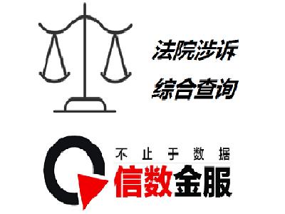【信数科技】法院涉诉综合查询