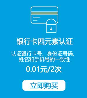 银行卡号四元素实名认证接口