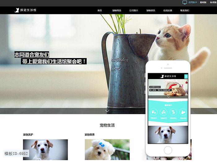 云建站 宠物医院建站模板 宠物店手机网站 猫狗粮智能建站 免主机免维护
