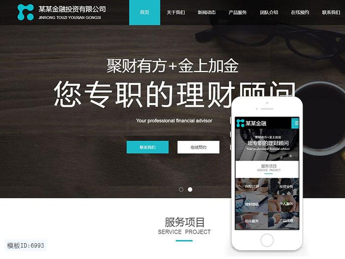 云建站 金融建站模板 理财公司手机网站 商业智能建站 免主机免维护